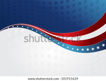 Patriotic wave background
