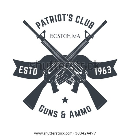 patriots club vintage logo with