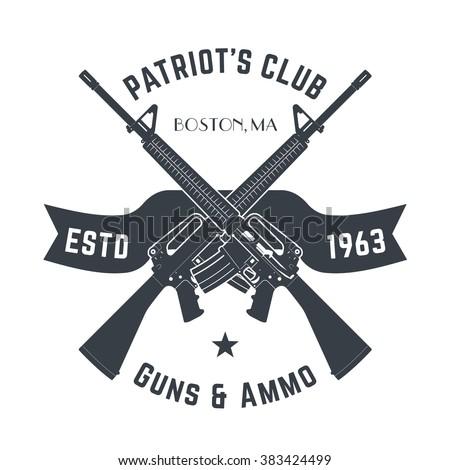 patriots club vintage logo with