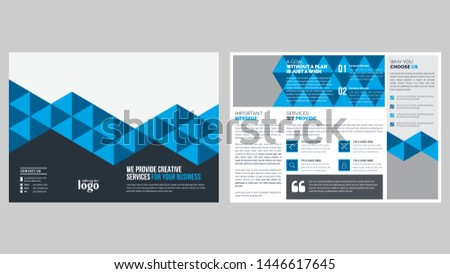 Pattern Bifold Brochure Template for any type of corporate use