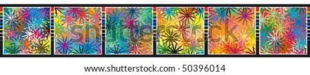 Pattern, board, frame elements