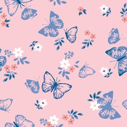 pattern butterfly graphic design print