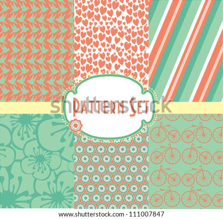 pattern collection. vector illustration