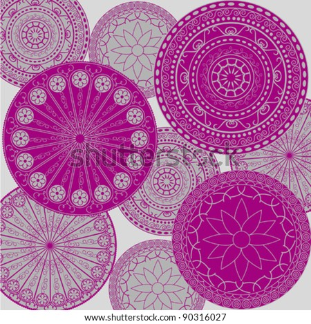 Pattern - colored ornaments