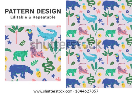 Pattern design background. Repeating cute print for textile or other design usages. Сток-фото ©
