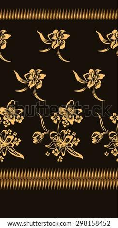 vector images illustrations and cliparts pattern design batik background design on brown hqvectors com hqvectors com