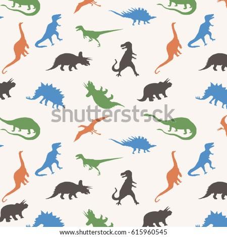 pattern dinosaur silhouette