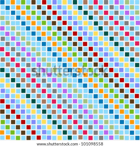 Pattern disorderly squares multicolored