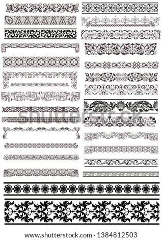 Pattern Element Ornament Seamless Frame #1384812503