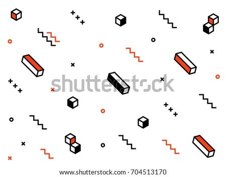 Pattern elements geometric background