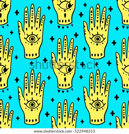 pattern fashion hands hamsa