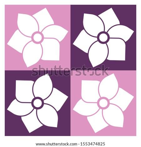 pattern flower pink style