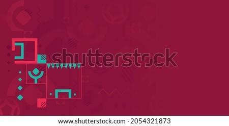Pattern for banner, card, website. burgundy color national flag qatar