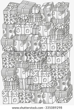pattern for coloring book a4