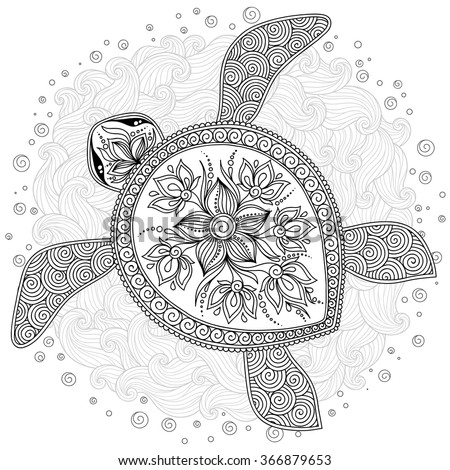 Simple Henna Coloring Sheets Coloring Pages