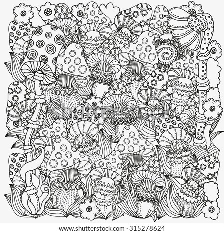 pattern for coloring book in