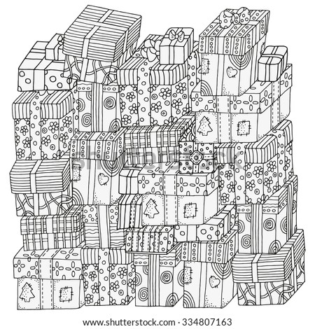 pattern for coloring book pile