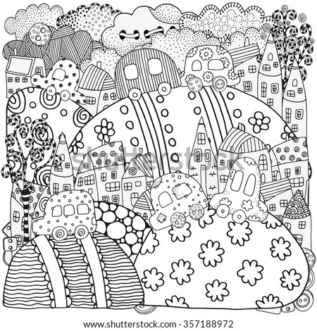 pattern for coloring book with