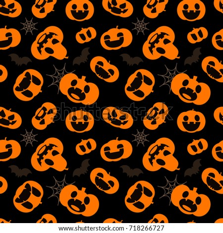 pattern for halloween seamless pattern with pumpkins bats and