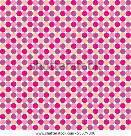 Pattern from pink violet circles