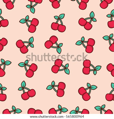 pattern fruit cherry