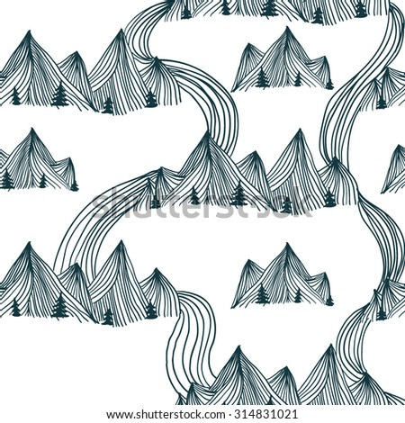 pattern graphic mountain