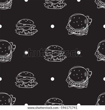 pattern hamburger drawing graphic design illustrate objects