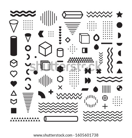 Pattern Hipster Abstract. Form Geometric Line and variety Shapes. polkadots. fashion style seamless background
