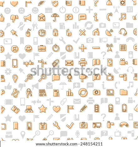Pattern icons, Web. The background of the icons Web.