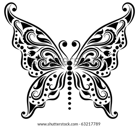 Pattern in a shape of a butterly.