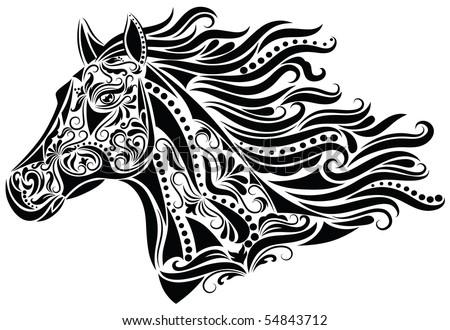 Pattern in a shape of a horse head.