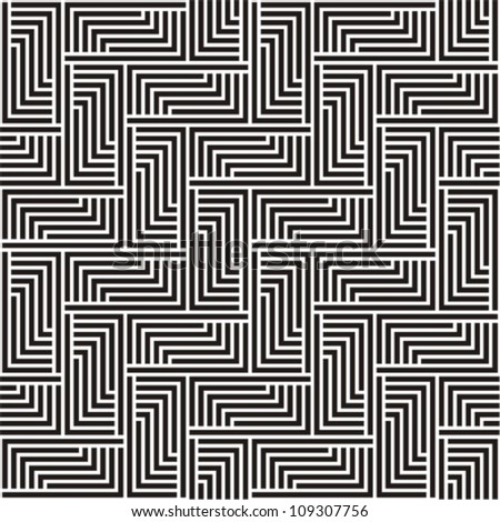 Pattern in  black and white zigzag