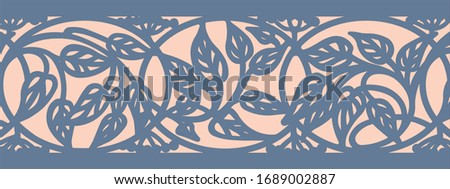 Pattern in the form of leaves