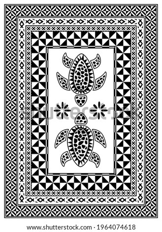 Pattern inspired by Fiji and Pacific Islands traditional design elements. Zdjęcia stock ©