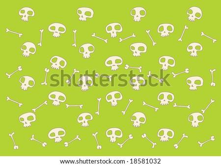 pattern made of  funny  skulls