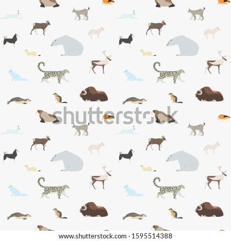 pattern of arctic animals