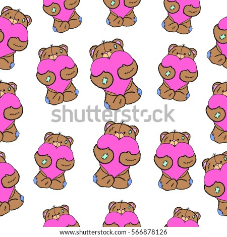 pattern of bearbear isolated