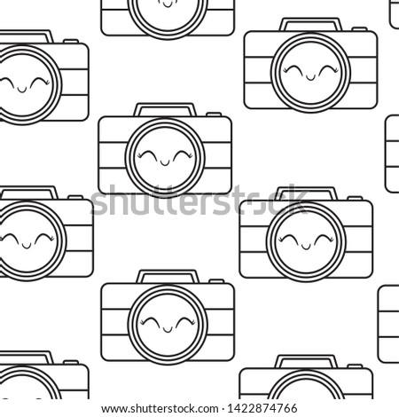 pattern of cameras photographics kawaii