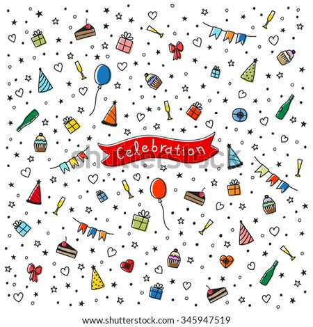 pattern of celebration