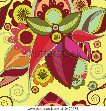 pattern of colorful daisies on