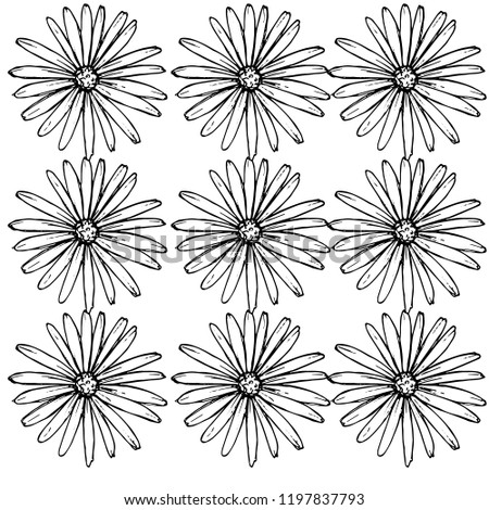 pattern of daisies manually