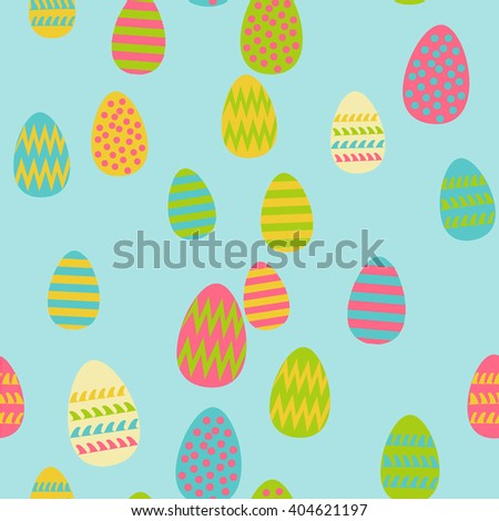 Pattern of Easter eggs