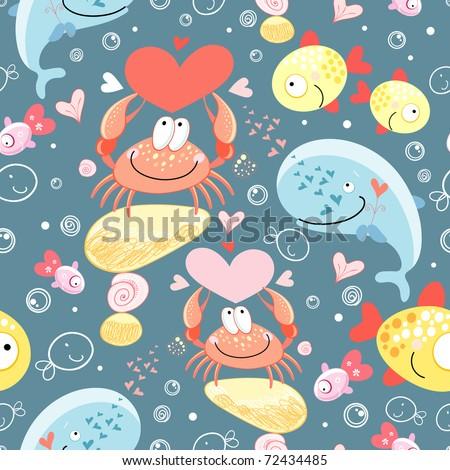 pattern of gay marine animals