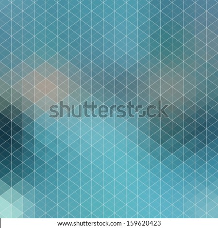Pattern of geometric shapes, Geometric Background with flow of spectrum effect, blue color, Vector