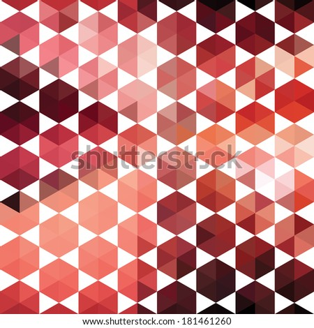 Pattern of geometric shapes hexagon. Colorful mosaic banner. Geometric hipster retro background with place for your text. Retro triangle background