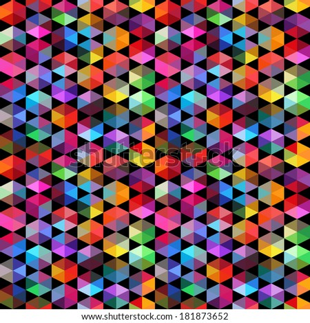 Pattern of geometric shapes. Triangles.Geometric background. Copy that square to the side, the resulting image can be repeated, or tiled, without visible seams.