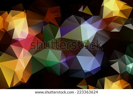 Pattern of geometric shapes. Triangles.Texture with flow of spectrum effect. Geometric background. . Retro pattern of geometric shapes.