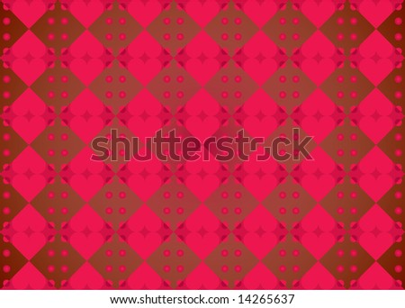 Pattern of hearts for St Valentines Day Celebration