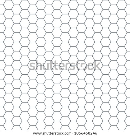 Pattern of honeycomb. Monochrome linear drawing. Vector image. Design. Strong style. Minimalistic background. Wall, tiles.