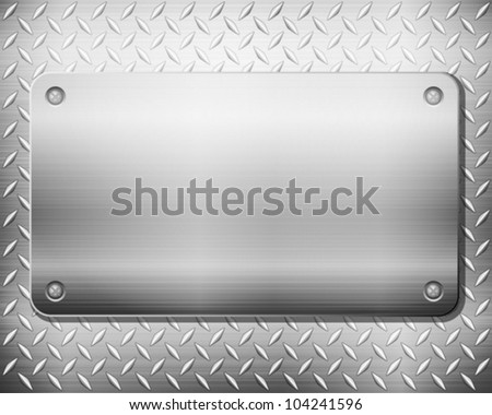 Pattern of metal texture background. Vector illustration.